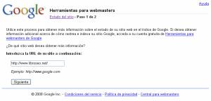 Añadir un sitio web a Google Webmaster Central