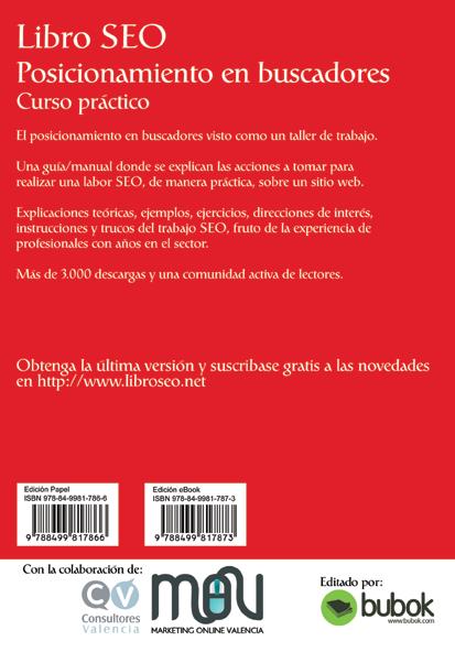ISBN del Libro SEO en papel y PDF